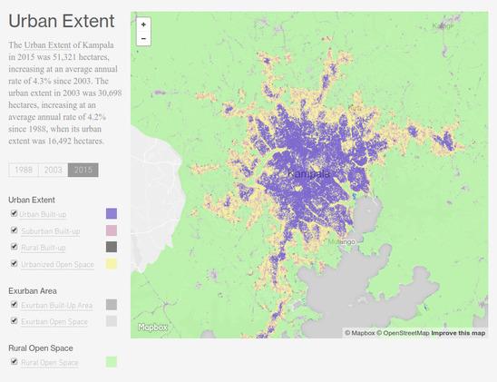 Urban data Kampala Urban Extent